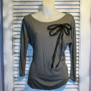 Lauren Conrad Small Ribbon Bow Blouse